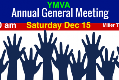 YMVA AGM Sat Dec 15 9:30 am